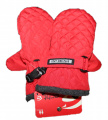 Dětské zimní rukavice - palčáky -prošívané - červené