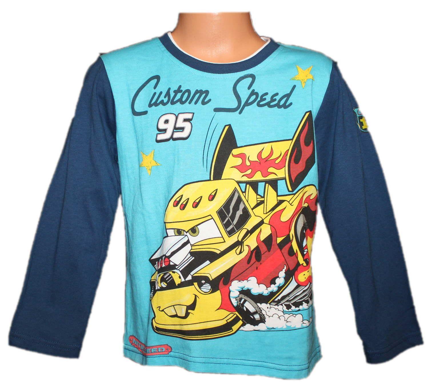 Triko dlouhý rukáv CAR´S, chlapecké tričko, tričko s auty Disney