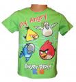 Triko krátký rukáv ANGRY BIRDS - zelené