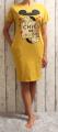Dámské bavlněné šaty Minnie - žluté-hořčicové