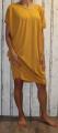 Dámské bavlněné volné šaty- žluté