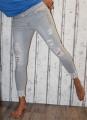 dámské elastické džíny, džíny slimky, dívčí slimky, dívčí elastické džíny, krátké džíny, šedé džíny, džíny skiny Denim