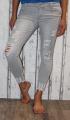 Elastické džíny - slimky - šedé