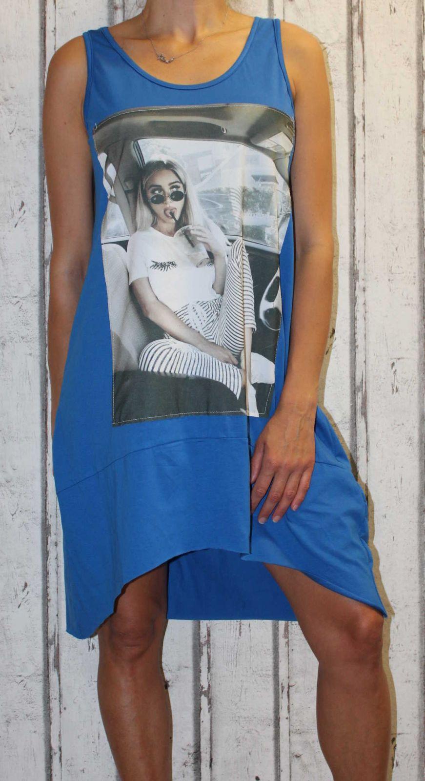 Dámské letní šaty, dámské bavlněné šaty, šaty volný střih, vzdušné šaty Italy Moda