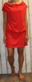 Dámské sportovní šaty spadlá ramena - červené