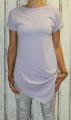 Dámské dlouhé tričko zkosený střih - fialové
