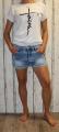 elastické džínové kraťasy, dámské džínové kraťasy, dívčí džínové kraťasy, pružné džínové kraťasy Denim