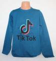 Bavlněné tričko TIK TOK - modro-zelené