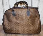 Dámská cestovní taška na kolečkách - hnědá