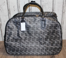 Dámská cestovní taška na kolečkách - šedo-černá