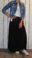 Dámská tylová sukně dlouhá - černá