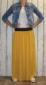 Dámská tylová sukně dlouhá - žlutá-hořčicová