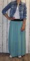 Dámská tylová sukně dlouhá - zelená