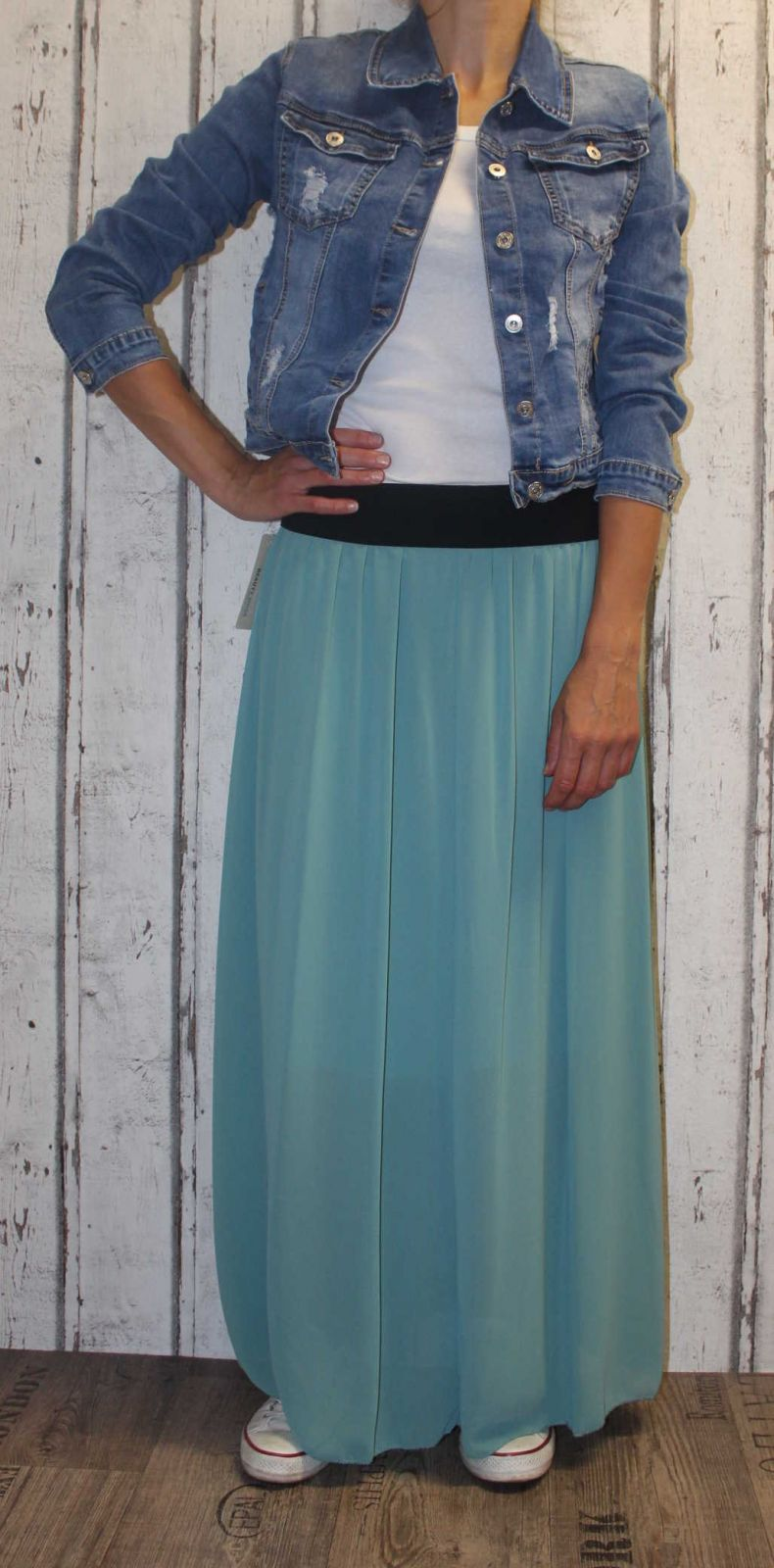 Dámská tylová sukně, tylová sukýnka, dlouhá tylová sukně, dámská dlouhá sukně, zelená tylová sukně Italy Moda