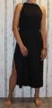 Dámské dlouhé šaty s rozparky - černé