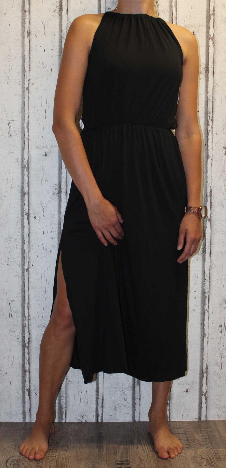 Dámské dlouhé letní šaty, plážové šaty, pohodlné šaty, dlouhé dámské šaty s rozparky Italy Moda