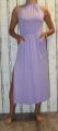 Dámské dlouhé šaty s rozparky - fialové