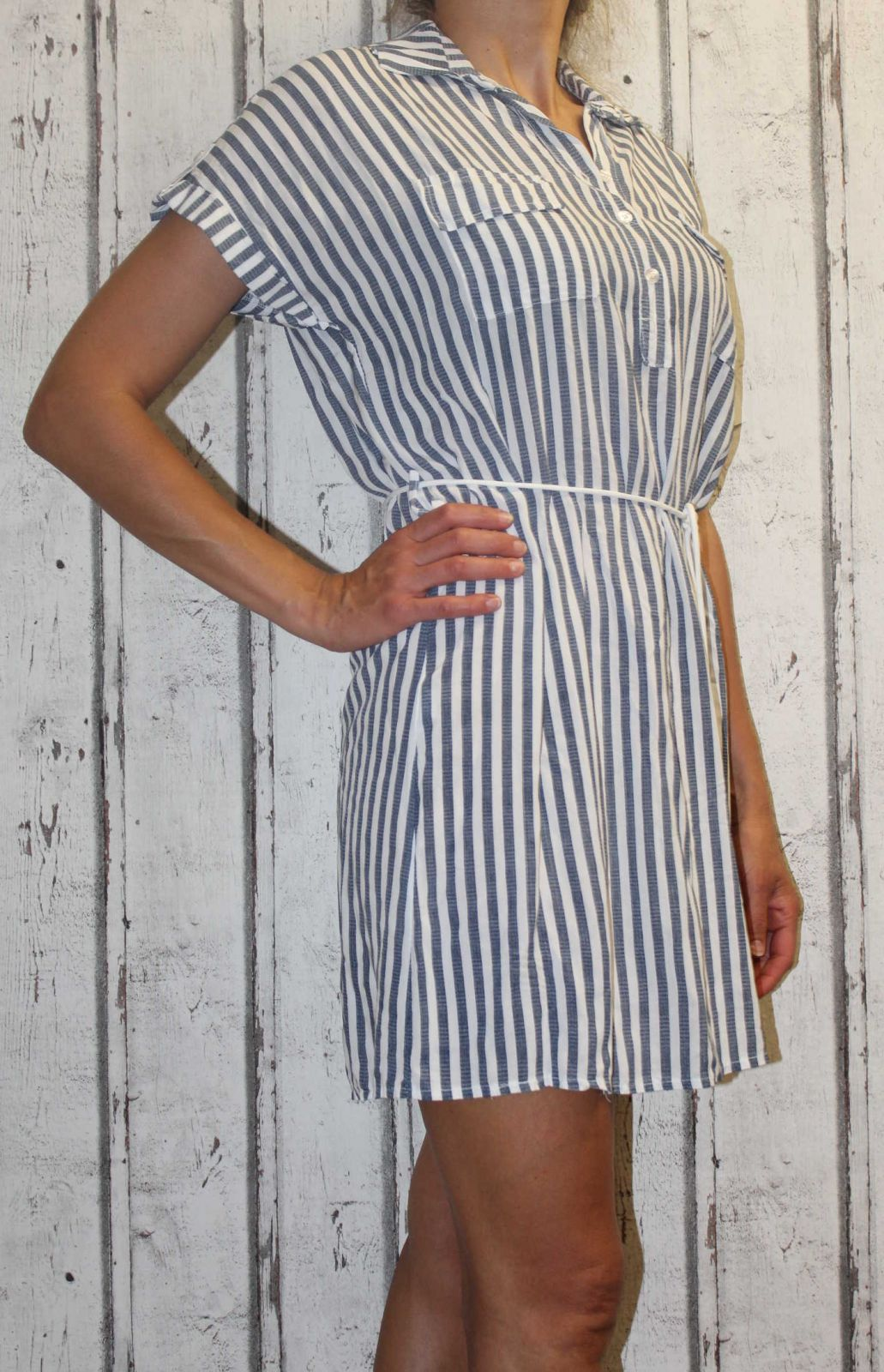 Dámské košilové šaty dámská dlouhá košile dámská košilová tunika lehká dlouhá košile košilové šaty Italy Moda