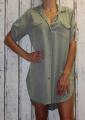 Dámské košilové šaty, dlouhá košile - khaki