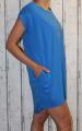 Dámské bavlněné šaty, tunika - modré