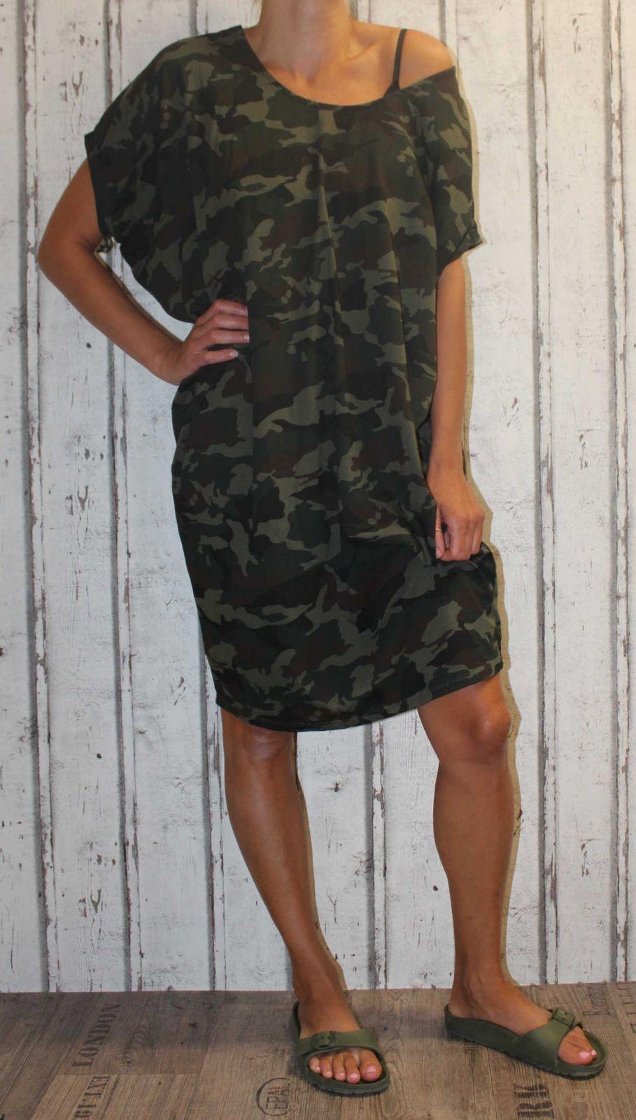Dámské letní šaty, plážové šaty, dámská tunika, pohodlné šaty dámské volné šaty Italy Moda