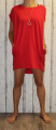 Dámské bavlněné šaty, tunika - červené