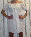 Dámské letní šaty - puntík - bílo-modré