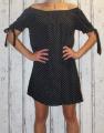 Dámské letní šaty - puntík - černo-bílé