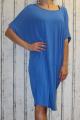 Dámské bavlněné volné šaty- modré