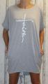 Dámské bavlněné, volné šaty - šedé