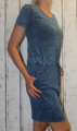 Dámské bavlněné šaty - vzhled džínoviny
