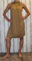 Dámské šaty bez rukávů - hnědé