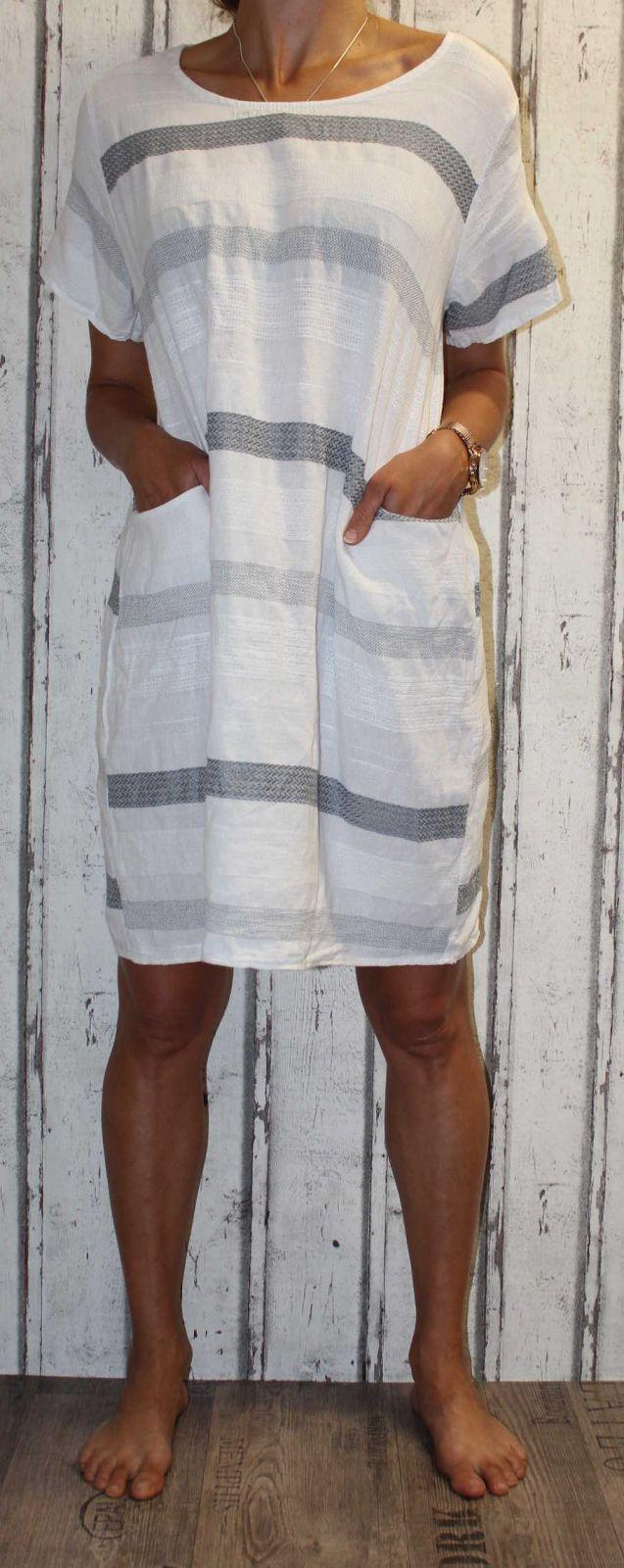 Dámské šaty, plážové šaty, pohodlné šaty, pruhované šaty