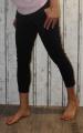 Dámské plátěné elegantní kalhoty - černé