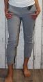 Dámské plátěné elegantní kalhoty - šedé se vzorem