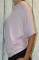 Dámské tričko krátký rukáv tričko spadlá ramena dámské volné triko Italy Moda