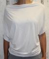 Dámské tričko - spadlá ramena 2 - bílé
