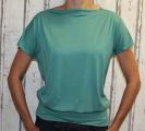 Dámské tričko - spadlá ramena - tm.zelené