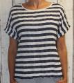 Dámské bavlněné triko/tunika - bílo-modrá pruhy