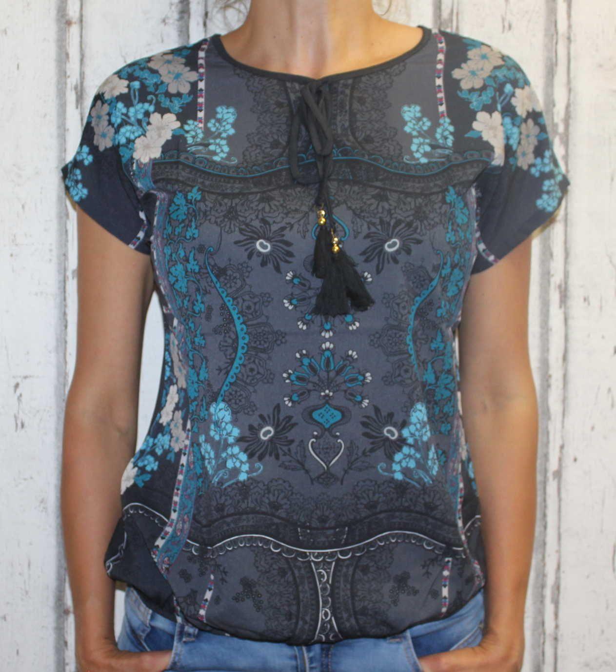 Dámské tričko volný střih dámská tunika dámská halenka dámská košile Turecko