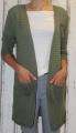 Dámský dlouhý letní kardigan - khaki