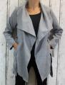 Dámský fleesový kabát - šedý