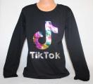 Dívčí bavlněné tričko TIK TOK - černé