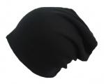 Dětská  čepice se spadlým vrškem vyteplená fleesem- černá 2