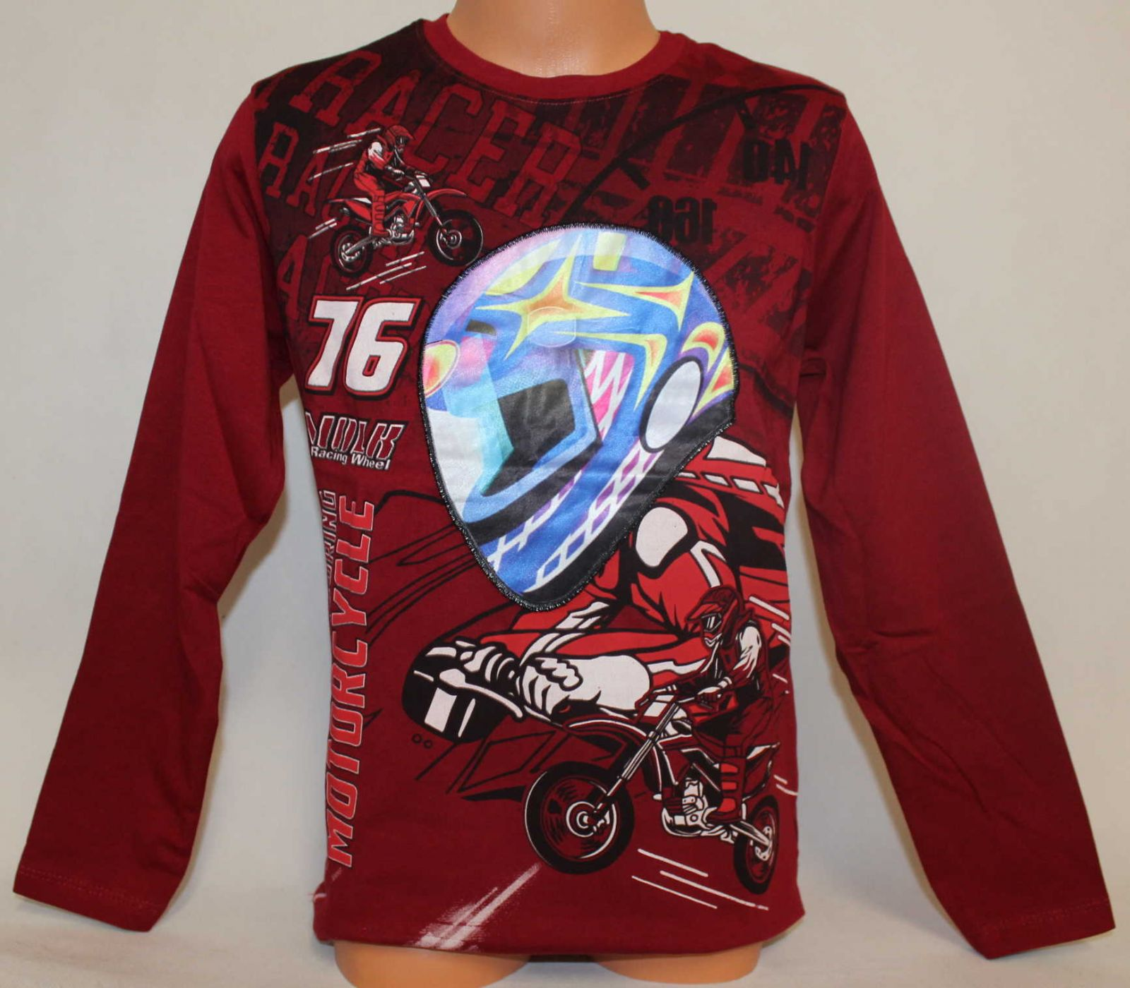 Blikací tričko s motorkou, svítící tričko, chlapecké blikací tričko, motorka blikající tričko, blikací triko s motorkou Mini Life