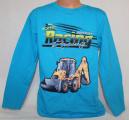 Blikací tričko Bagr - modré