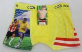 Babmusové boxerky fotbalové - žluté