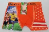 Babmusové boxerky fotbalové - oranžové
