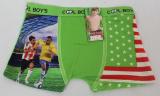 Babmusové boxerky fotbalové - zelené