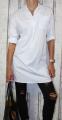 Dámská dlouhá košile, košilové šaty - bílé